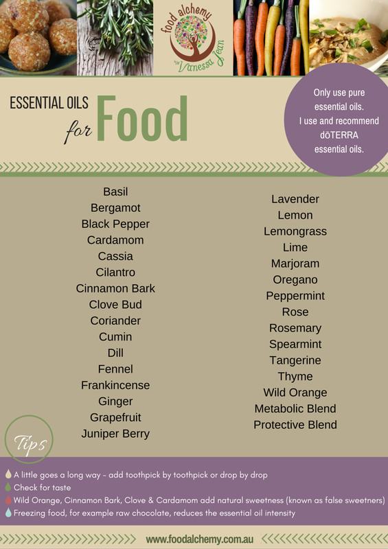 Essential oils for Food