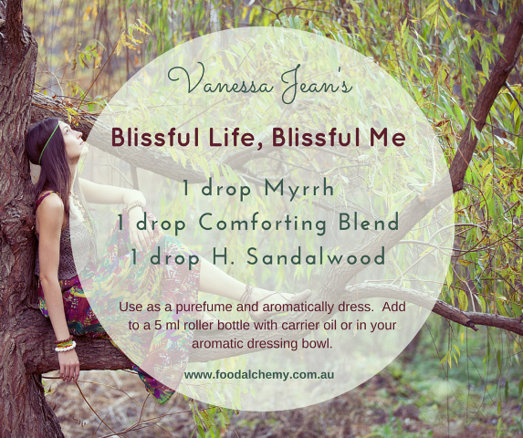 Blissful Life, Blissful Me essential oil reference: Myrrh, Comforting Blend, Hawaiian Sandalwood