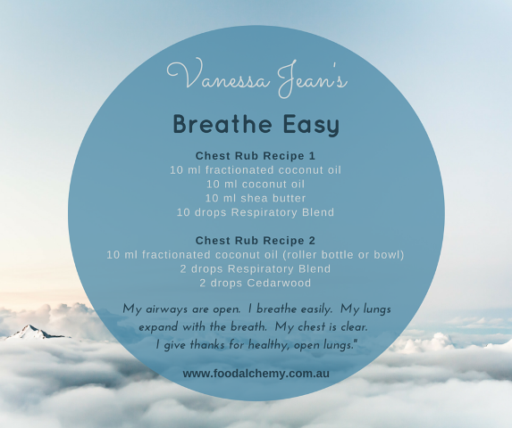 Vanessa Jean's Breathe Easy with Respiratory Blend (Clear Blend), Cedarwood essential oils