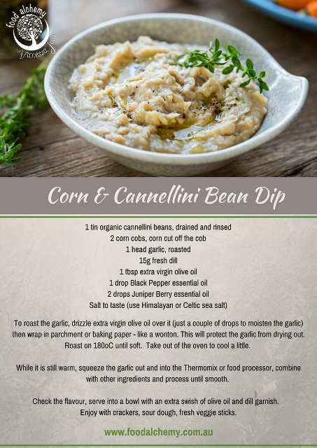 Corn and Cannellini Bean Dip with Black Pepper and Juniper Berry