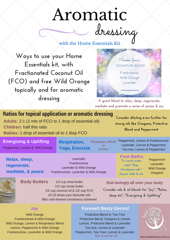 Aromatic dressing using the Home Essentials Kit