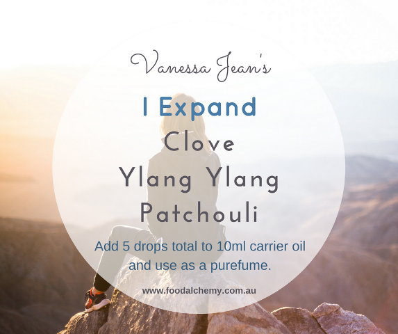 I Expand essential oil reference: Clove, Ylang Ylang, Patchouli
