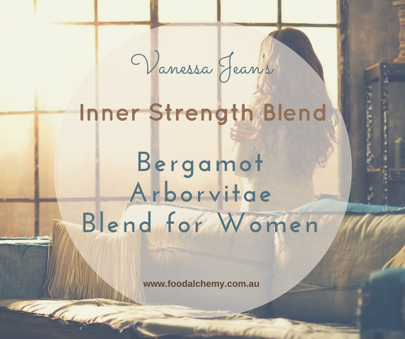Inner Strength Blend essential oil reference: Bergamot, Arborvitae, Blend for Women