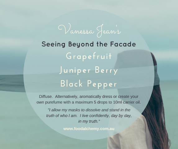 Seeing Beyond the Facade essential oil reference: Grapefruit, Juniper Berry, Black Pepper