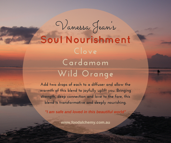 Soul Nourishment essential oil reference: Clove, Cardamom, Wild Orange