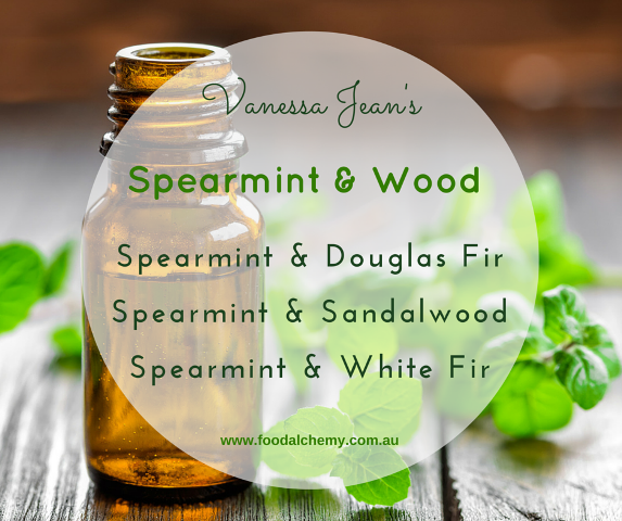 Spearmint & Wood essential oil reference: Spearmint, Douglas Fir, Sandalwood, White Fir