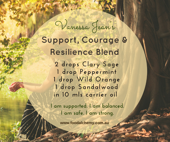 Support, Courage & Resilience Blend essential oil reference: Clary Sage, Peppermint, Wild Orange, Sandalwood