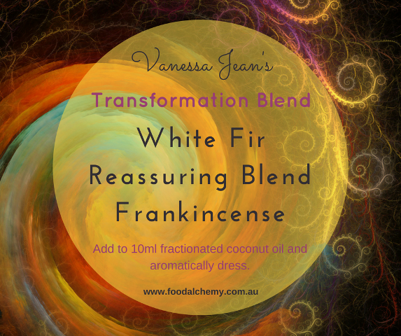 Transformation Blend essential oil reference: White Fir, Reassuring Blend, Frankincense