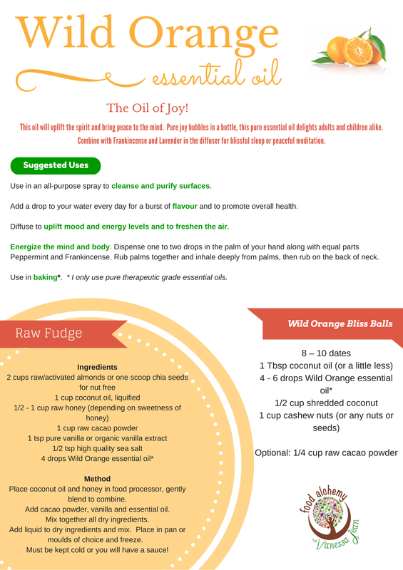 Wild Orange essential oil fact sheet