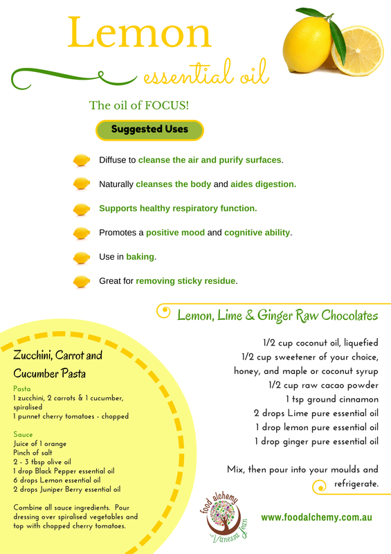 Lemon essential oil fact sheet