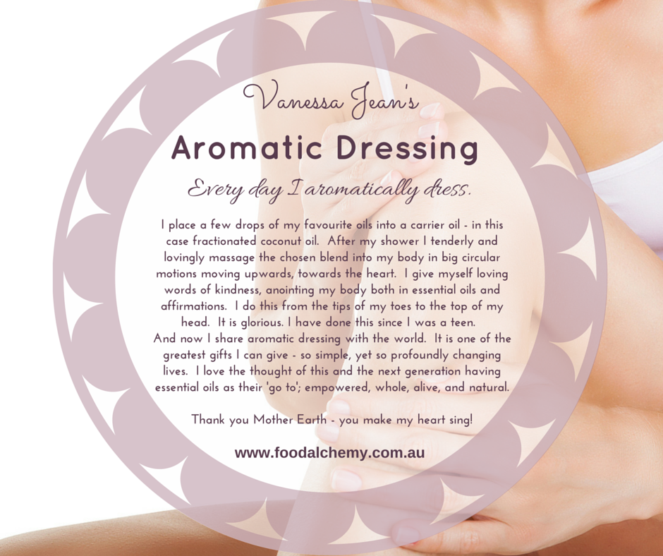 Vanessa Jean on aromatic dressing