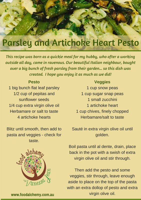 Parsley and Artichoke Heart Pesto